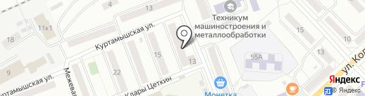 Библиотека им. А.С. Пушкина на карте Кургана