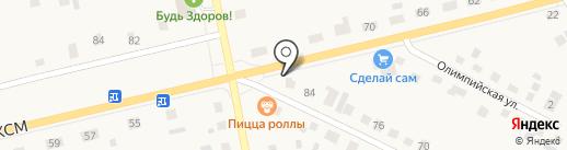 На углу на карте Исетского