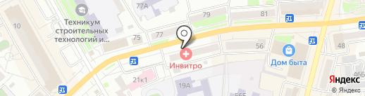 Кармезин на карте Кургана
