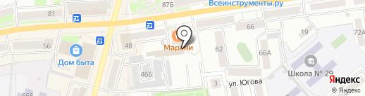 Урал на карте Кургана