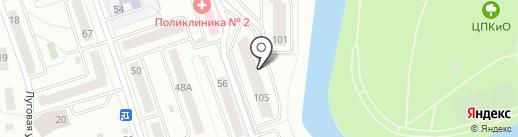Бизнес-центр на Карельцева на карте Кургана
