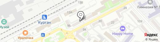 Галина на карте Кургана