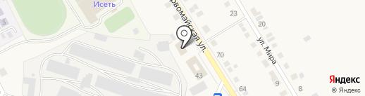 Ю*Кон на карте Исетского
