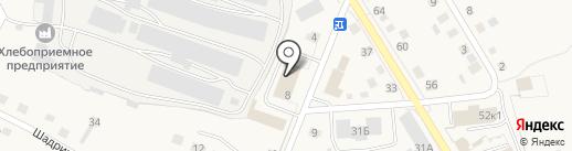 Почтовое отделение на карте Исетского