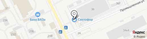 Светофор на карте Кургана