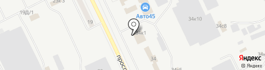 Курганский провиант на карте Кургана