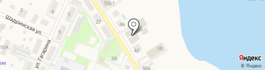 Березка на карте Исетского