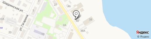 Амрита на карте Исетского
