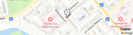 Радио Дорожное, FM 103.7 на карте Кургана