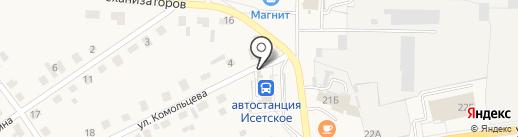 Юргамышские колбасы на карте Исетского