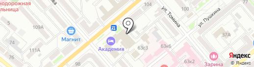 Вилка-Ложка на карте Кургана