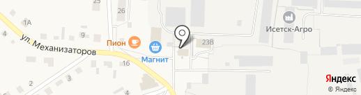 Администрация Исетского сельского поселения на карте Исетского