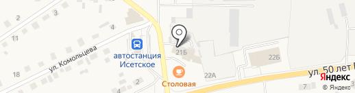 Магазин хозяйственных товаров на карте Исетского