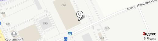 Курганское пассажирское автотранспортное предприятие №1, НАО на карте Кургана