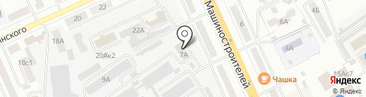 Сеть магазинов на карте Кургана