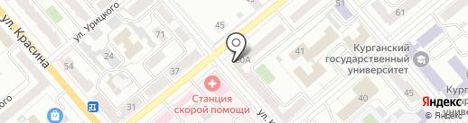 Адвокат Саночкин М.В. на карте Кургана