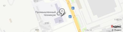Курганский промышленный техникум на карте Кургана