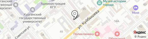 Тату-студия Дмитрия Обухова на карте Кургана
