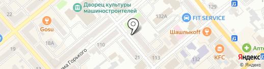 Нотариус Тарасова Е.В. на карте Кургана