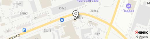 Магазин фирменных автозапчастей для КАМАZ на карте Кургана