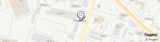 Компания грузоперевозок на карте Кургана