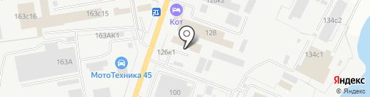 Рем-Завод на карте Кургана
