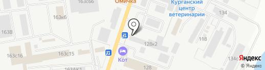 Атол на карте Кургана