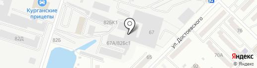Челны-2 на карте Кургана