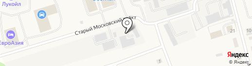 Взлет-Тюмень на карте Московского