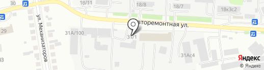 Вирбак на карте Тюмени