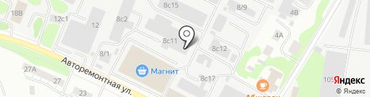 Автотолк на карте Тюмени