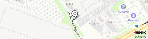 Автомойка на карте Тюмени