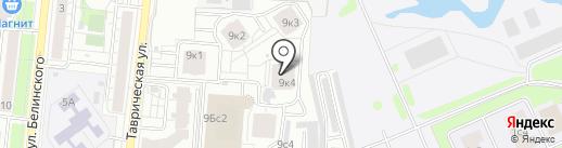 Акварель на карте Тюмени