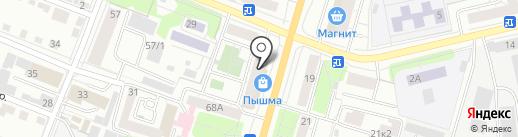 Сибирская слобода на карте Тюмени