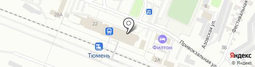 Железнодорожная больница, НУЗ на карте Тюмени