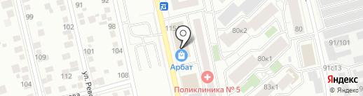 Ярослава на карте Тюмени