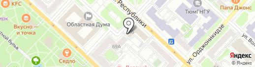 Абрис ЗМК на карте Тюмени