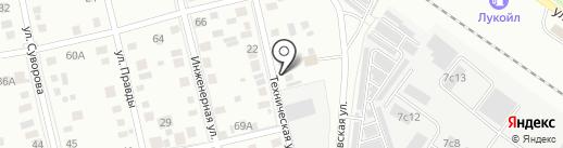 Рублёвка на карте Тюмени