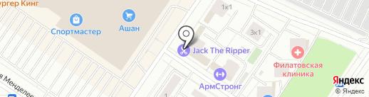 Штрихкод на карте Тюмени