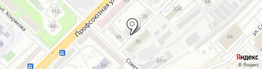 Продовольственный магазин на карте Тюмени