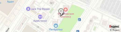 Кружка на карте Тюмени