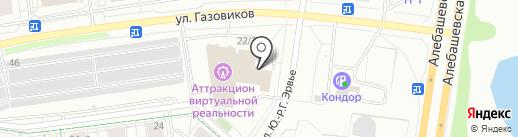 Магазин электротоваров на карте Тюмени