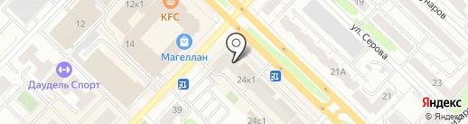Наш бараш на карте Тюмени