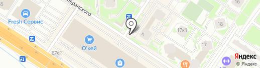 Магазин по продаже шаурмы на карте Тюмени