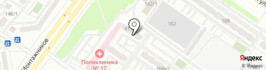 Иртыш на карте Тюмени