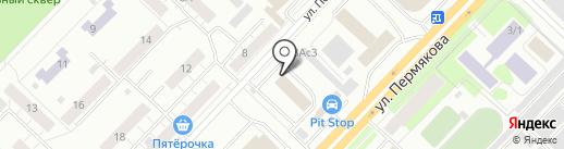 КапиталСтрой на карте Тюмени