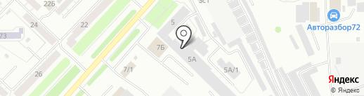 Стофф на карте Тюмени