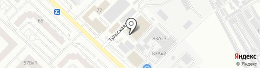 Санджет на карте Тюмени