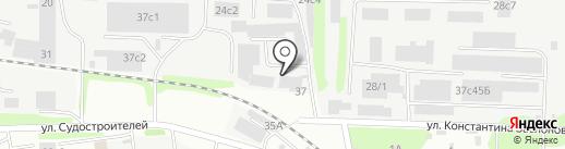Стеклянный стиль на карте Тюмени