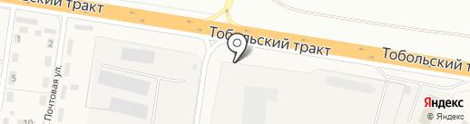 Червячок на карте Тюмени